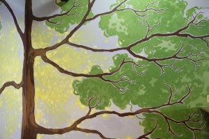 Painted Tree in the Kid's Nook